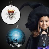 Halloween Cemetery Plastic Medallions - 2 1/2