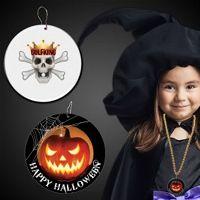 Halloween Pumpkin Plastic Medallions - 2 1/2