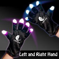 Light Up LED Glow Rave Gloves