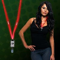 Light Up LED Lanyard with Badge Clip