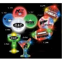 Margarita Glass Stock Shape Flashing LED Light UpGlow Button