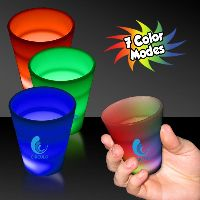 Multi Color Led Light Up Glow Neon Look 2 Oz Shot Glass