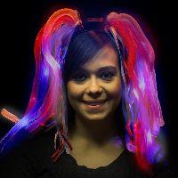 Patriotic LED Light Up Costume Diva Dreads Headband