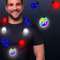 Patriotic LED Medallion Ball Necklace