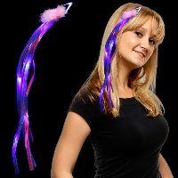 Pink & Blue LED Light Up Ribbon Fascinator