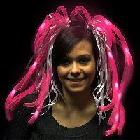 Pink Diva Dreads (TM) LED Light Up Costume Headband