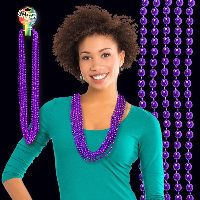 Purple Metallic Beaded Necklace