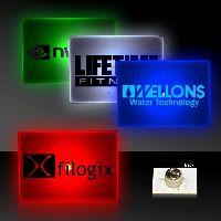 Rectangle Shape Flashing LED Light Up Glow Button