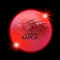 Red LED Light Up Glow Golf Balls