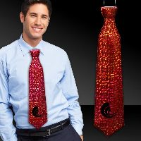 Red Prismatic Neck Ties