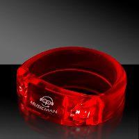 Red Soundsation Light Up Glow LED Bangle Bracelet