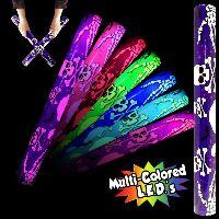 Skull 'N Cross Bones Light up Glow LED Lumiton baton wand