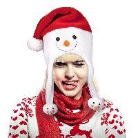Snowman Santa Hat