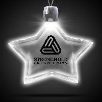 Star White Light-Up LED Acrylic Pendant Necklace