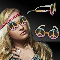 Tie Dye Peace Sign Costume Sunglasses