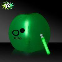 Translucent Green Beach Ball with Glow light Stick
