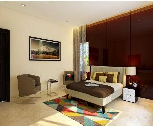 3D Bedroom Interior Designing