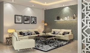 3D Living Room Interior Designing