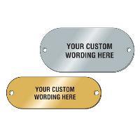 Custom Metal Asset Id Plates