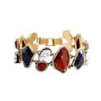 Asymmetric Vintage Stone Chain Bracelet