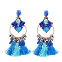 Azure Statement Tassels