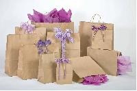 Kraft Paper Shopping Bags, Shoppers