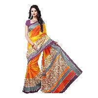women multi colored bhagalpur silk cotton sarees