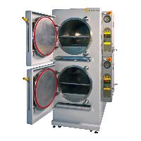 Dual 150L Front Loading Chambers Electrically Heated Autoclave