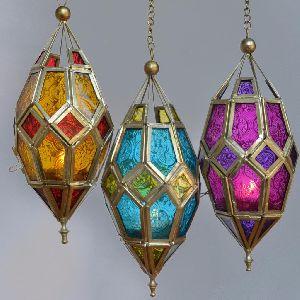 Glass Hanging Lanterns