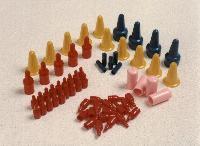 PULL TABS ROUND PVC CAPS
