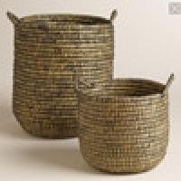 antique willow basket and swicker basket with handles