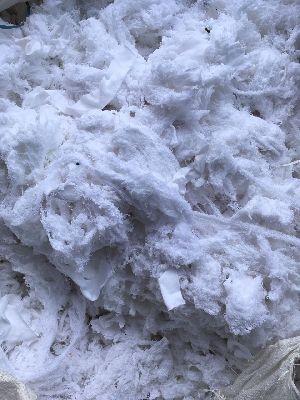 White Hosiery Yarn Waste