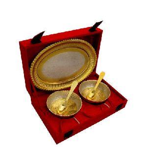 Brass Dry Fruit Bowl Set