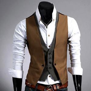 Mens V Neck Jacket