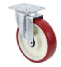 Polyamide Core Medium Duty Pressed Steel Swivel Castor