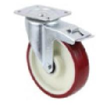 Total Lock Medium Duty Pressed Steel Swivel Castor