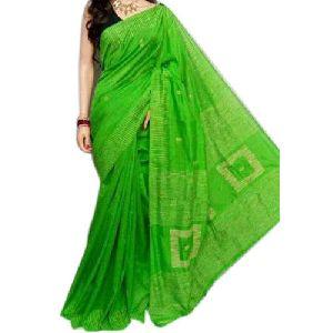 Green Handloom Sarees