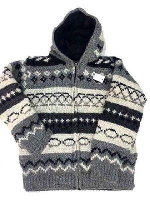 Woolen Jacquard Jacket