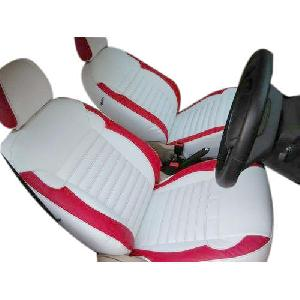 Leather Waterproof White Car Seat Covers
