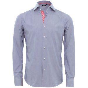 Mens Plain Blue Formal Shirts