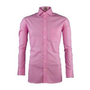 Mens Plain Pink Formal Shirts