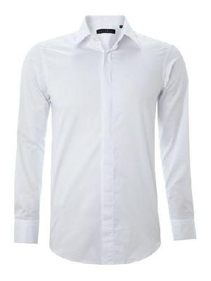 Mens Plain White Formal Shirts