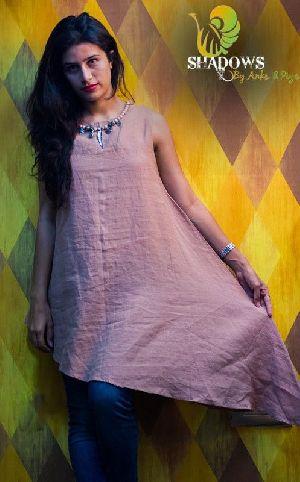 Ladies Cotton Linen Kurti