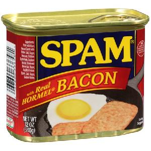 12 OZ Spam With Bacon Pork & Ham Canned Meat