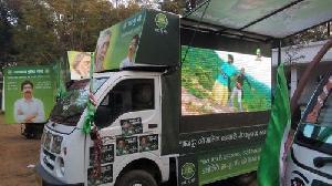 Tata Ace Led Video Van Service in delhi