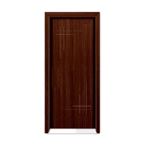 Dark Brown Laminated Wooden Door