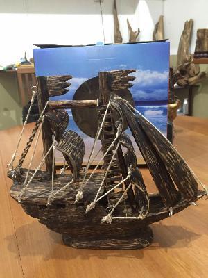 Agarwood Ship Showpiece