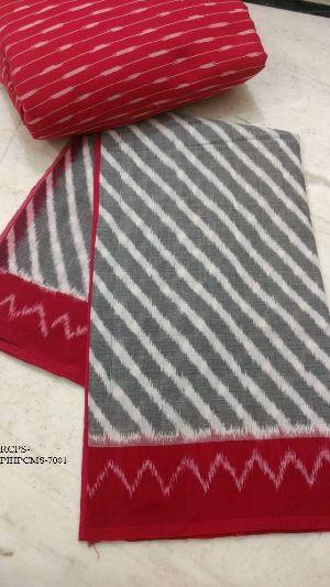 Handloom Pochampally Ikkat Mercerized Cotton Sarees
