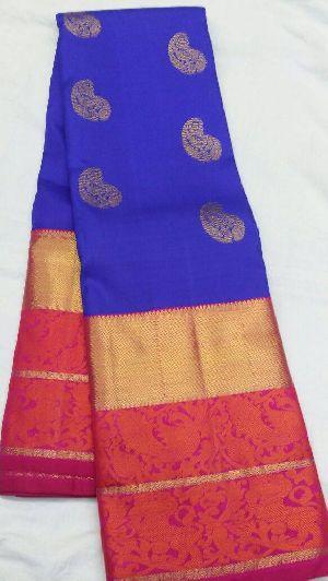 Pure Kanjeevaram Zari Silk And Organza Sarees