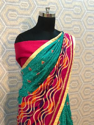 Foil Work Silk Sarees